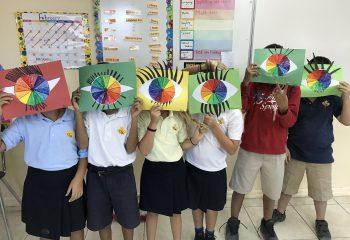 Grade 4 Color Wheel Art